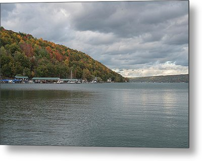 Metal Print featuring the photograph Autumn In Hammondsport by Joshua House