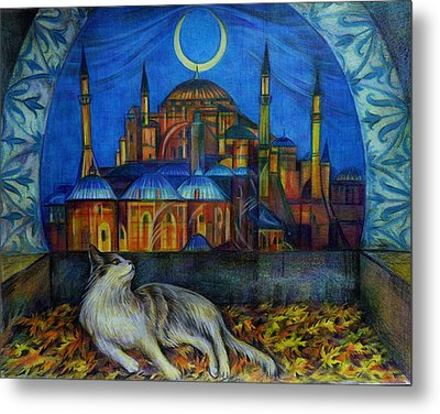 Autumn In Istanbul Metal Print