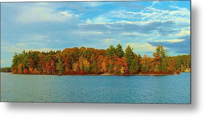 Autumn In Maine Metal Print