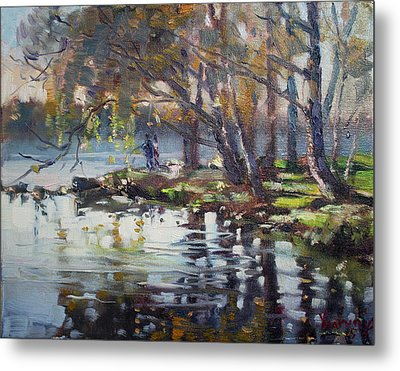 Autumn In Marines Memorial Park Metal Print by Ylli Haruni