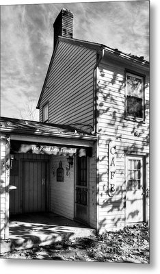 Autumn In Metamora 2 Bw Metal Print by Mel Steinhauer