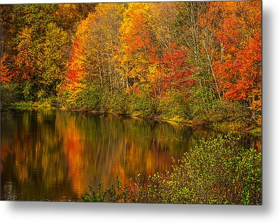 Autumn In Monroe Metal Print by Karol Livote