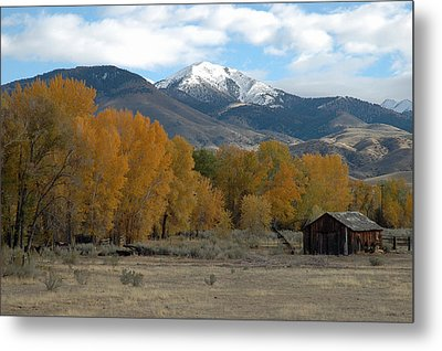 Autumn In Montana's Madison Valley Metal Print by Bruce Gourley