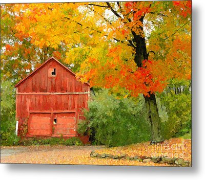 Autumn In New England Metal Print by Michael Petrizzo