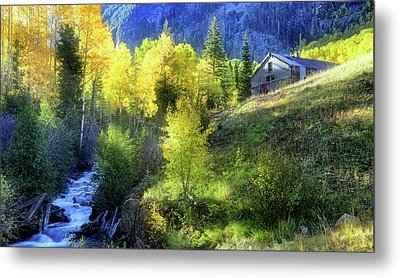 Metal Print featuring the photograph Autumn In Ophir - Colorado - Aspens by Jason Politte