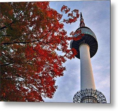 Autumn In Seoul Metal Print