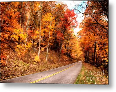 Autumn In The Blue Ridge Of Virginia Ap Metal Print