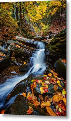 Autumn In The Catskills Metal Print by Rick Berk