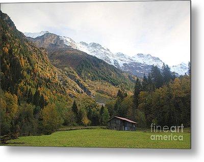 Autumn In The Lauterbrunnen Valley, Switzerland Metal Print