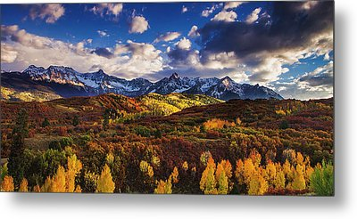 Metal Print featuring the photograph Autumn In The Rockies by Andrew Soundarajan