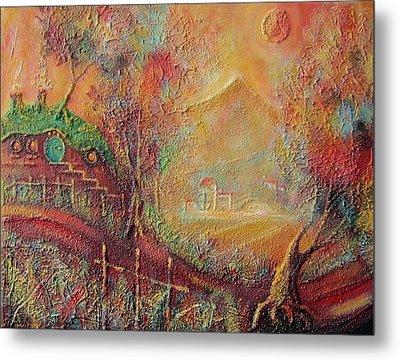 Autumn In The Shire Bag End Metal Print by Joe  Gilronan