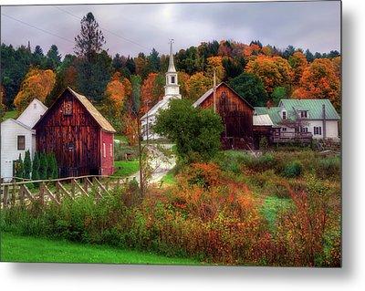 Autumn In Waits River Vermont Metal Print by Joann Vitali