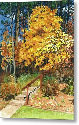 Metal Print featuring the painting Autumn Invitation by Barbara Jewell