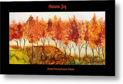 Autumn Joy Metal Print by Suzanne Canner