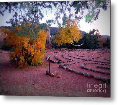 Autumn Labyrinth Metal Print by Marlene Rose Besso