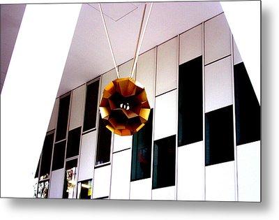 Autumn Lamp Shade Metal Print by Jez C Self