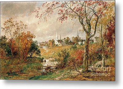 Autumn Landscape Metal Print by Jasper Francis Cropsey