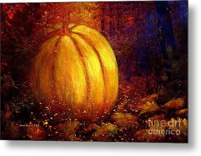 Autumn Landscape Painting Metal Print