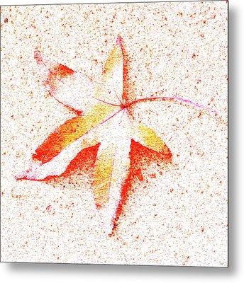 Autumn Leaf Art Metal Print