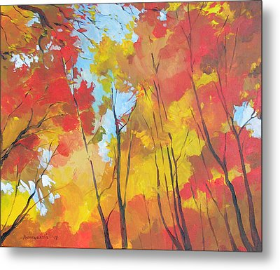 Autumn Leaves Metal Print by Alessandro Andreuccetti