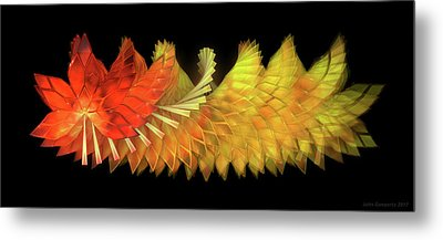 Autumn Leaves - Composition 2.2 Metal Print