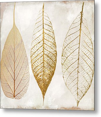Autumn Leaves IIi Fallen Gold Metal Print by Mindy Sommers