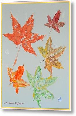 Autumn Leaves Metal Print by Sonali Gangane
