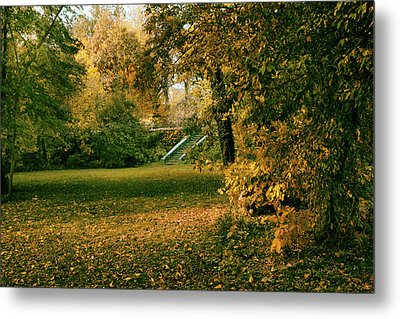 Autumn Meadow Entrance  Metal Print by Jessica Jenney