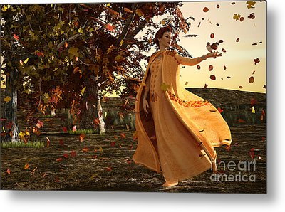 Metal Print featuring the digital art Autumn by Methune Hively