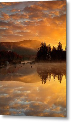 Metal Print featuring the photograph Autumn Mist by Mike Lang