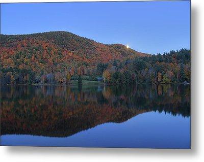 Autumn Moonrise In The Green Mountains Metal Print by John Burk