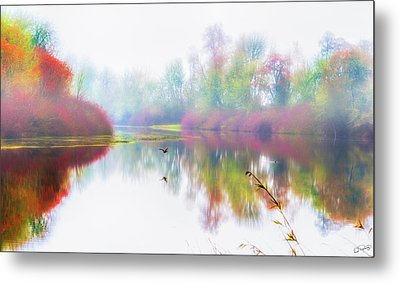 Autumn Morning Dream Metal Print