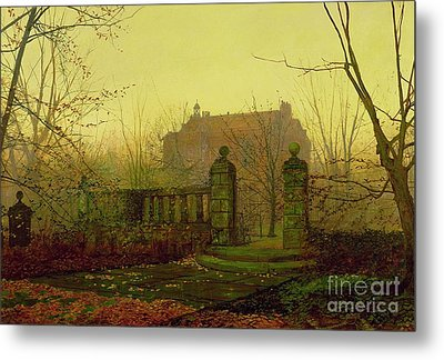 Autumn Morning Metal Print by John Atkinson Grimshaw