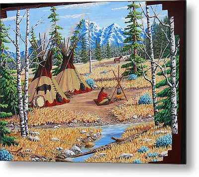 Autumn Morning Metal Print by Billie Bowles