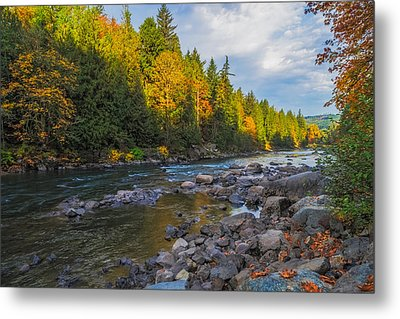 Autumn Morning Light On The Snoqualmie Metal Print