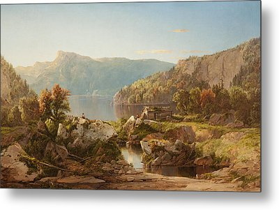 Autumn Morning On The Potomac Metal Print by William Sonntag