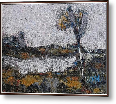 Metal Print featuring the painting Autumn Morning by Pemaro