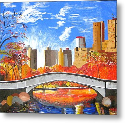Autumn Oasis Metal Print