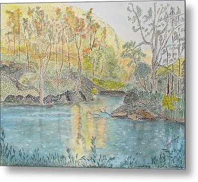 Autumn On The Ausable River Metal Print
