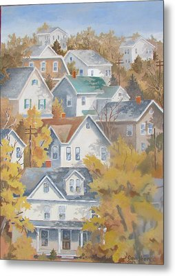 Autumn On The Hill Metal Print
