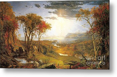 Autumn On The Hudson River  Metal Print by Celestial Images