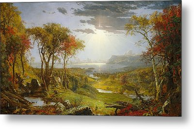 Autumn On The Hudson River  Metal Print by MotionAge Designs