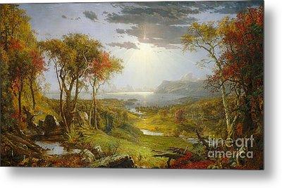 Autumn On The Hudson River Metal Print