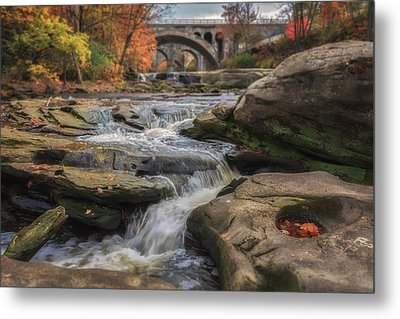 Autumn On The Rocky River Metal Print by Michael Demagall