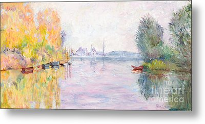 autumn on the seine argenteuil by 20 x 24 oil painting on canvas hand painted oil reproduction of a famous claude monet painting, autumn on the seine at argenteuil the original masterpiece.