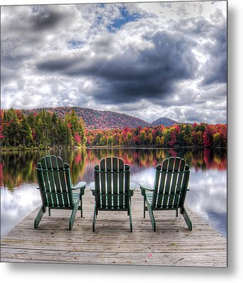 Metal Print featuring the photograph Autumn On West Lake by David Patterson