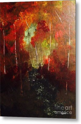 Metal Print featuring the painting Sunset Trail by Denise Tomasura