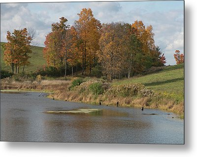 Metal Print featuring the photograph Autumn Pond by Joshua House