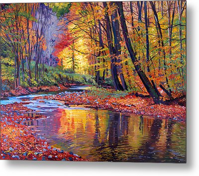 Autumn Prelude Metal Print by David Lloyd Glover