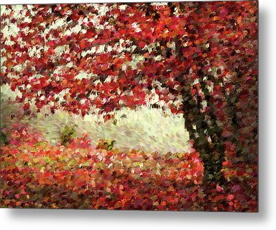 Autumn Radiance Impressionism Wall Art Metal Print